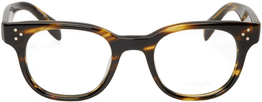 Oliver Peoples Brown Tortoiseshell Afton Optical Glasses