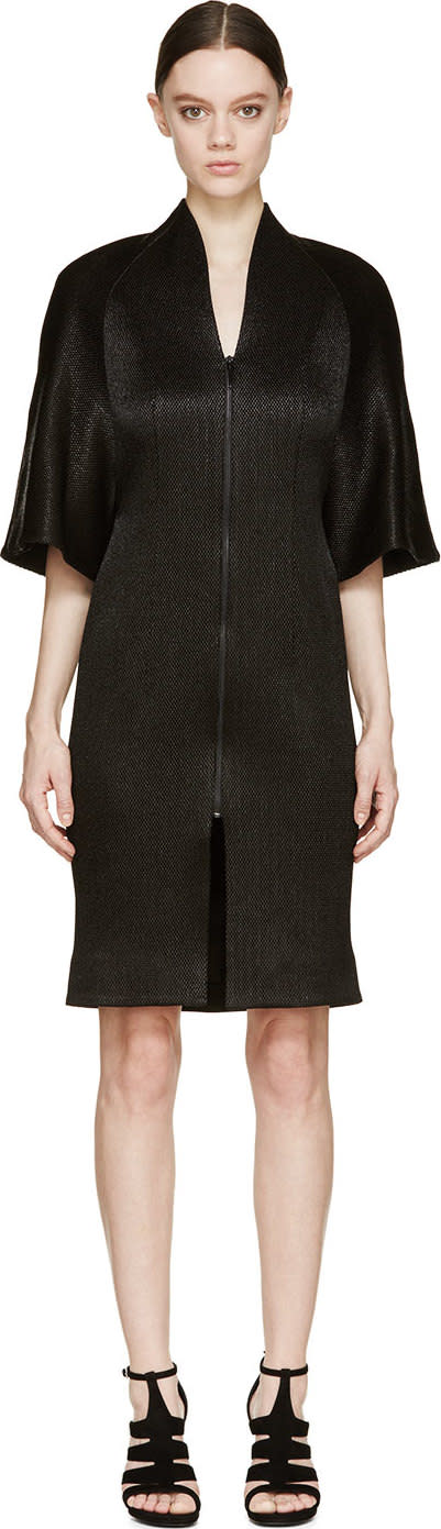 Image of Iris Van Herpen Black Structured Halo Coat