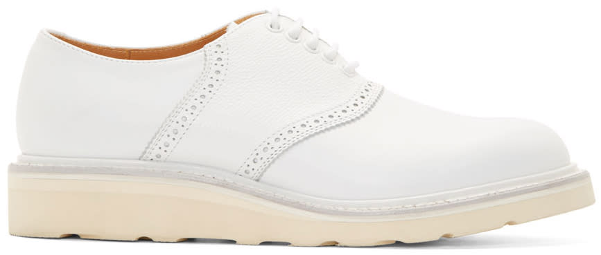 08sircus White Leather Brogued Oxfords