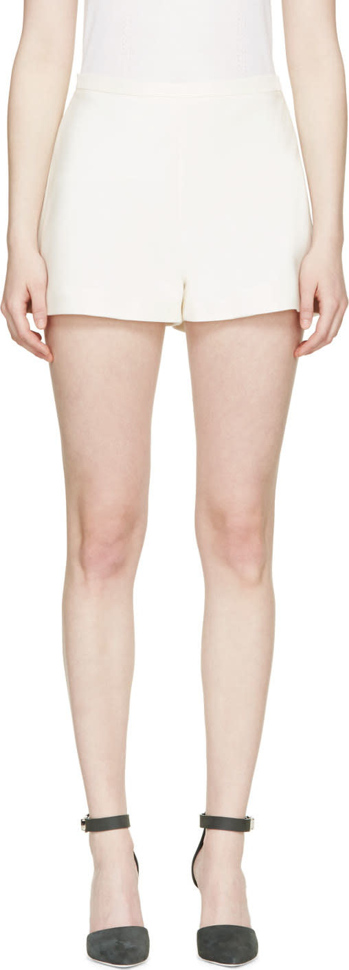 Giambattista Valli Ivory Ladder-seam Shorts