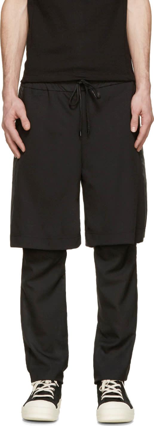 D.gnak By Kang.d Black Layered Gym Shorts