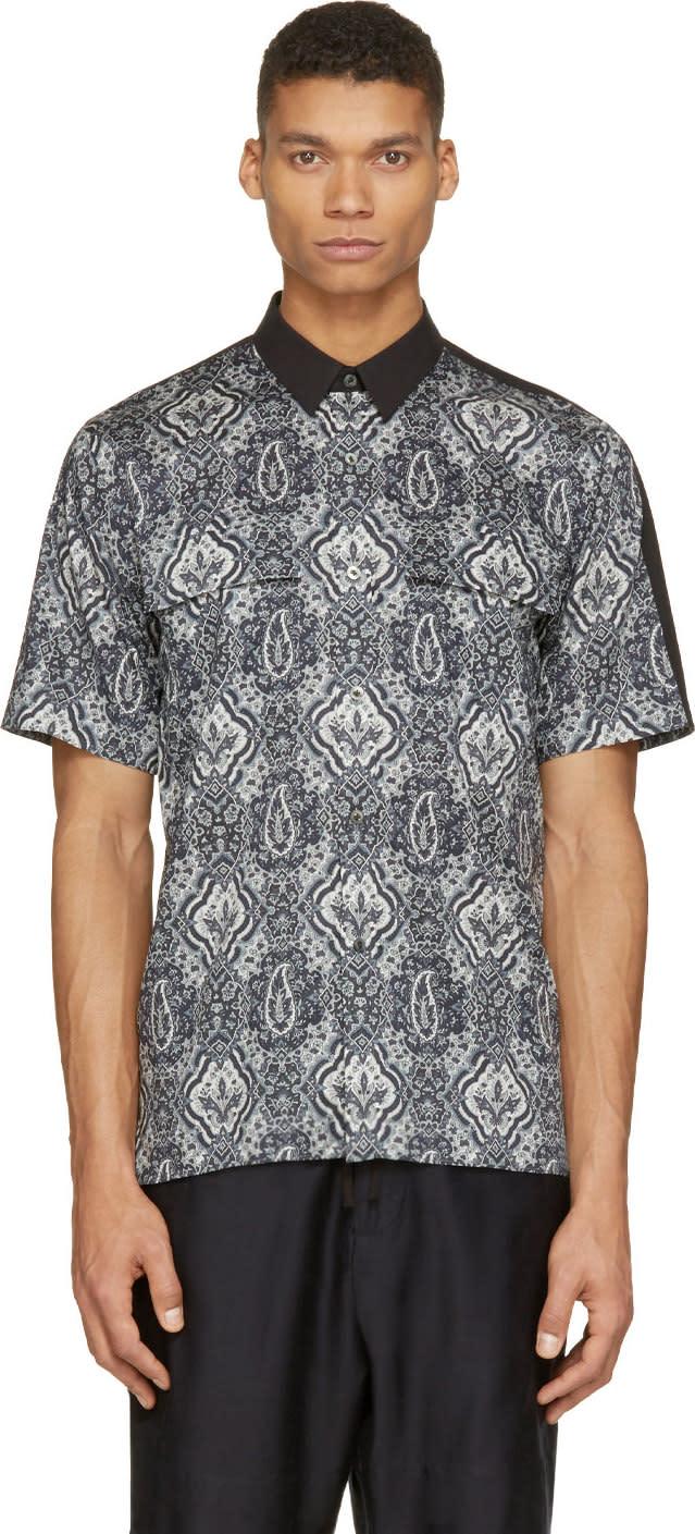 Miharayasuhiro Black Paisley Shirt