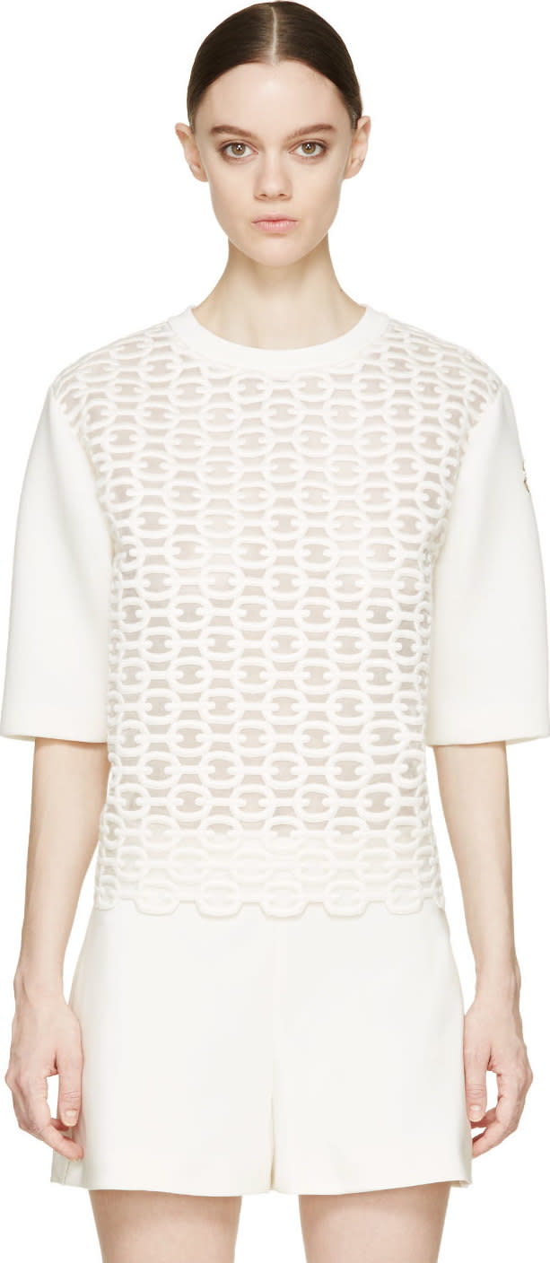 Moncler Gamme Rouge Ivory Nautical Motif Top