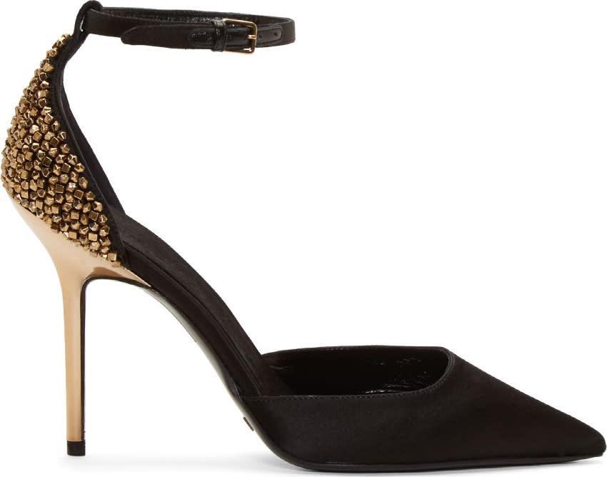 Burberry London Black Embellished Alanson Heels