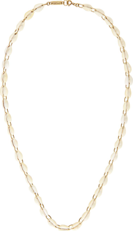Isabel Marant Ivory Seashell Raw Necklace