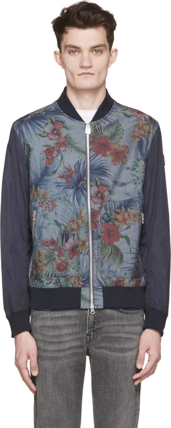 Colmar Navy Floral Hawaii Bomber Jacket