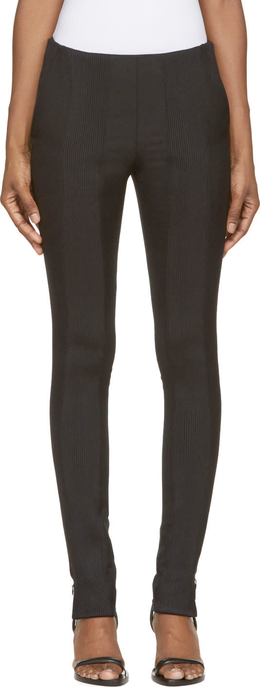 Image of Paco Rabanne Black Knit Trim Trousers
