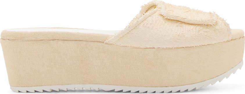 Image of Amélie Pichard Ecru Platform Guy Sandals