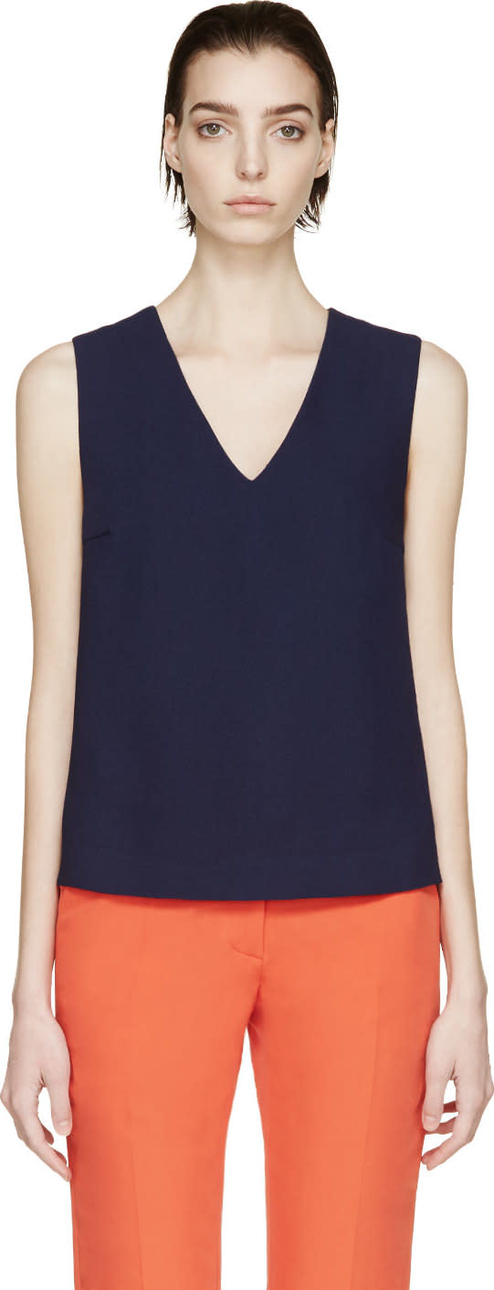 Rejina Pyo Ssense Exclusive Navy and Scarlet Modernist Blouse