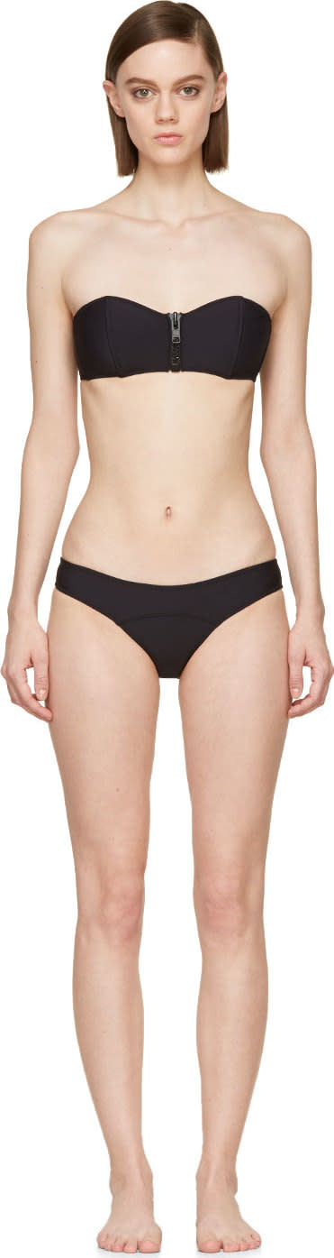 Lisa Marie Fernandez Black Neoprene Bandeau Lauren Bikini