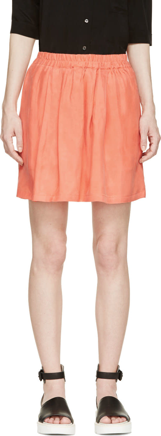 Won Hundred Coral Tati Pocket Skirt