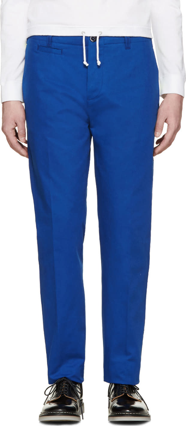 Image of Oamc Blue Chino Trousers