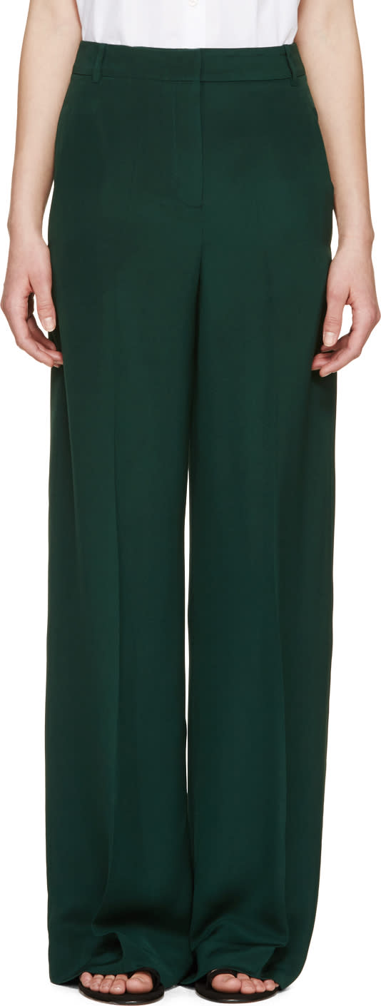 Erdem Forest Wide Leg Birte Trousers