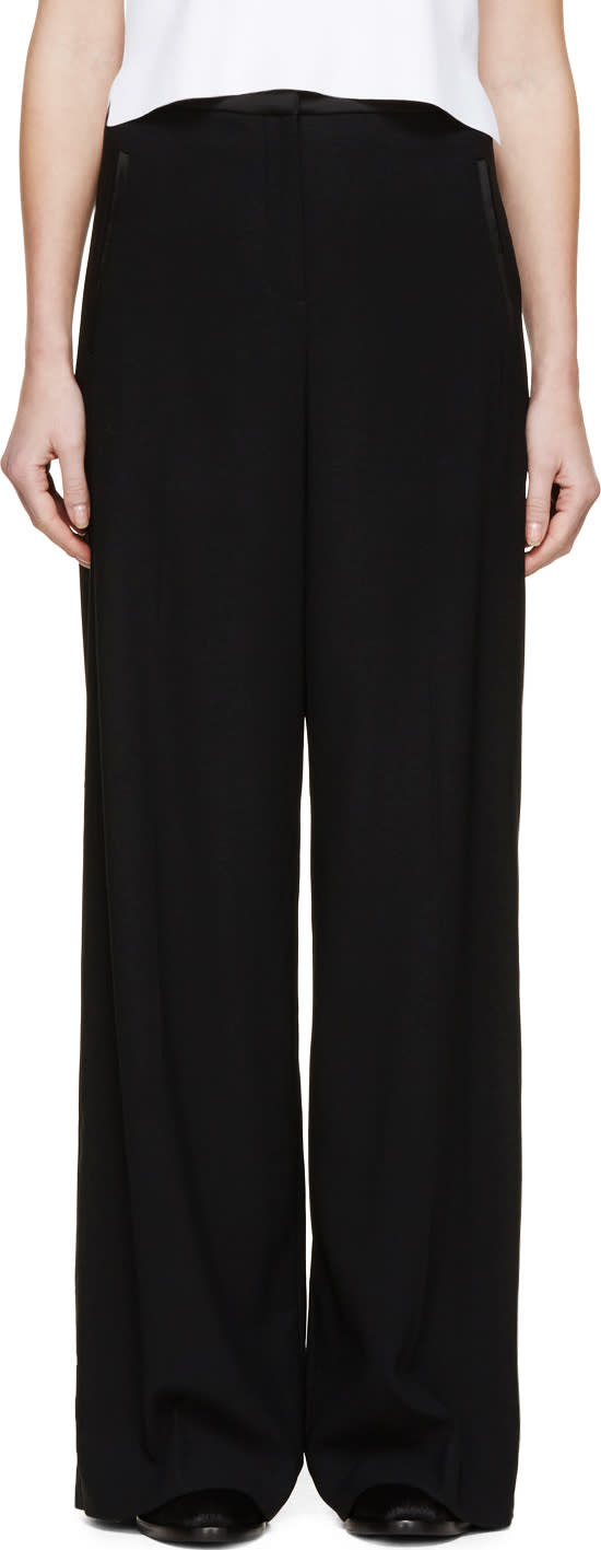 Erdem Black Wide-leg Birte Trousers
