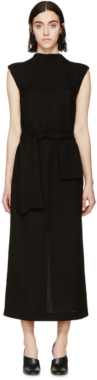 Loewe Black Woven V-back Dress