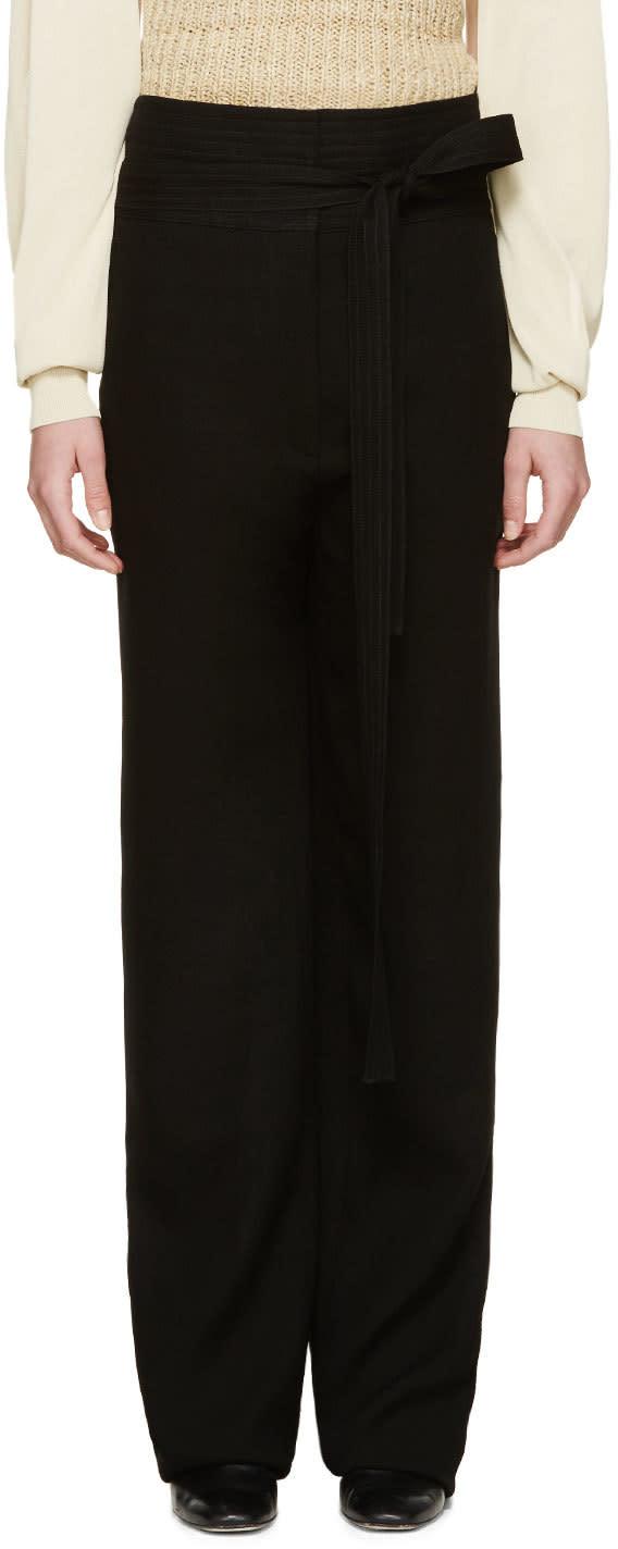 Loewe Black Woven Judo Trousers