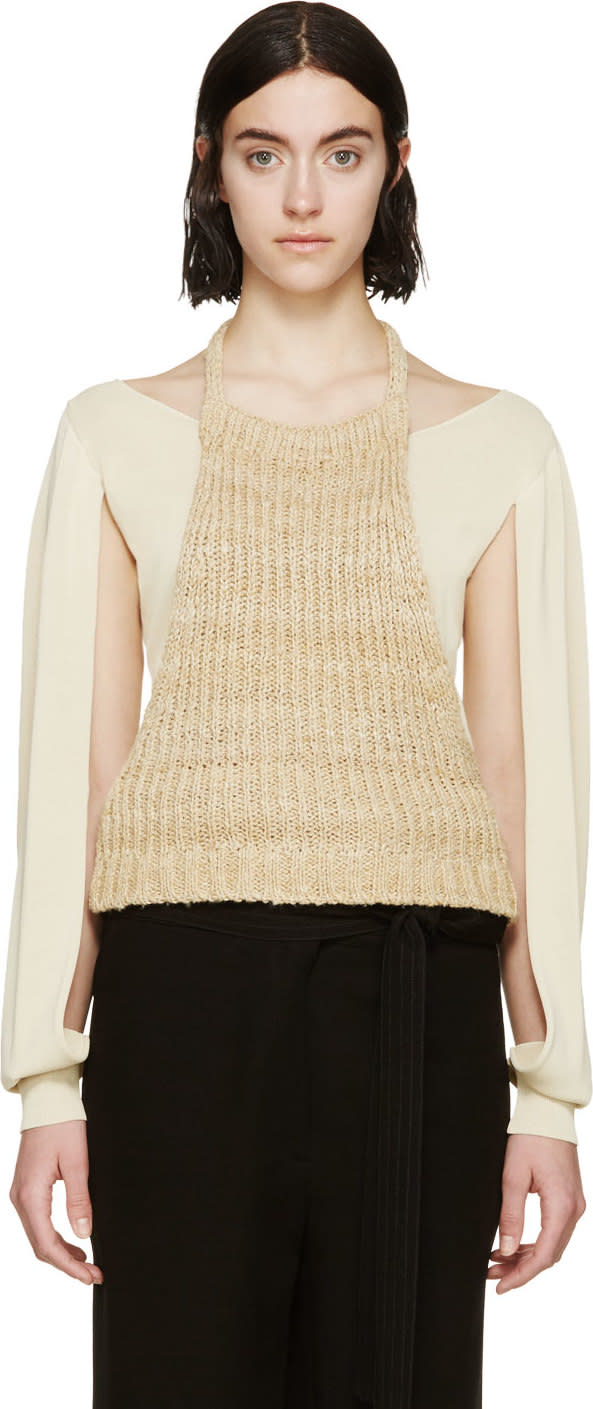 Image of Loewe Beige Halter Panel Top