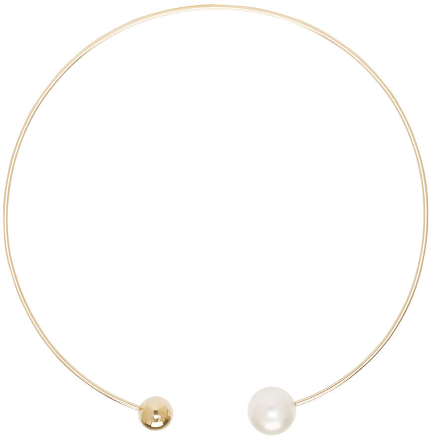 Sophie Bille Brahe Gold and Pearl Déesse Necklace