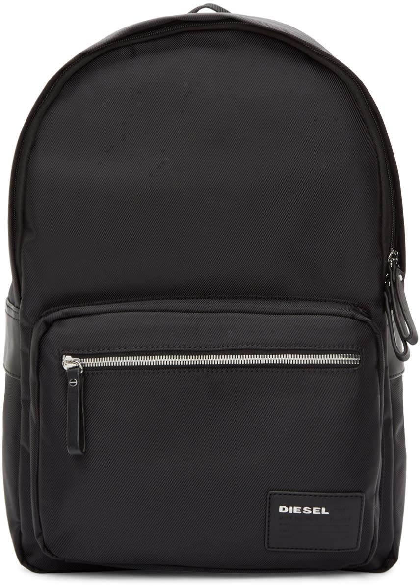 Diesel Black Nylon Drumroll Backpack