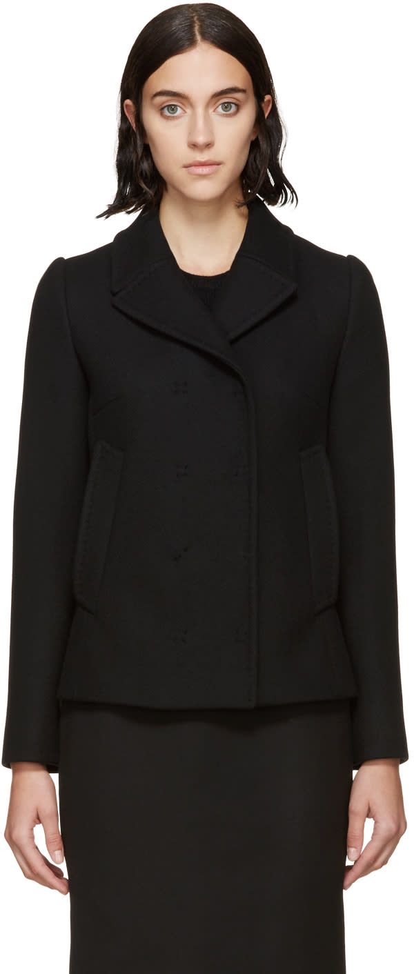 Dolce and Gabbana Black Cashmere-wool Jacket