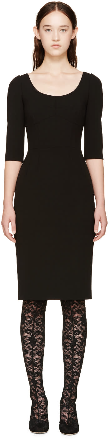 Dolce and Gabbana Black Fitted Dress