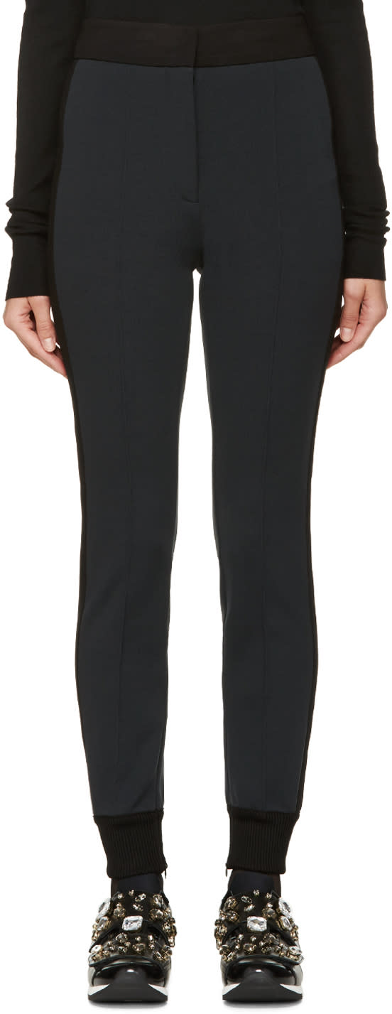 Dolce and Gabbana Grey and Black Tux Striped Lounge Pants