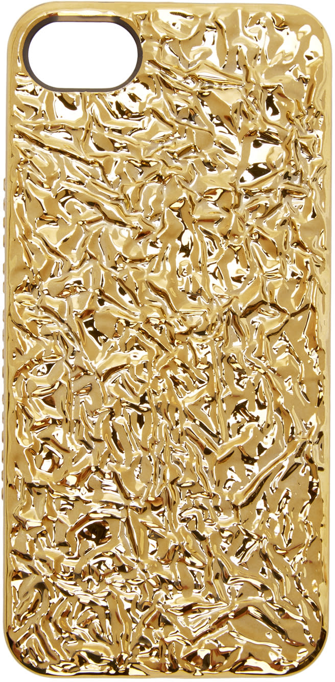 Marc By Marc Jacobs Gold Crinkled Foil Iphone 5 Case