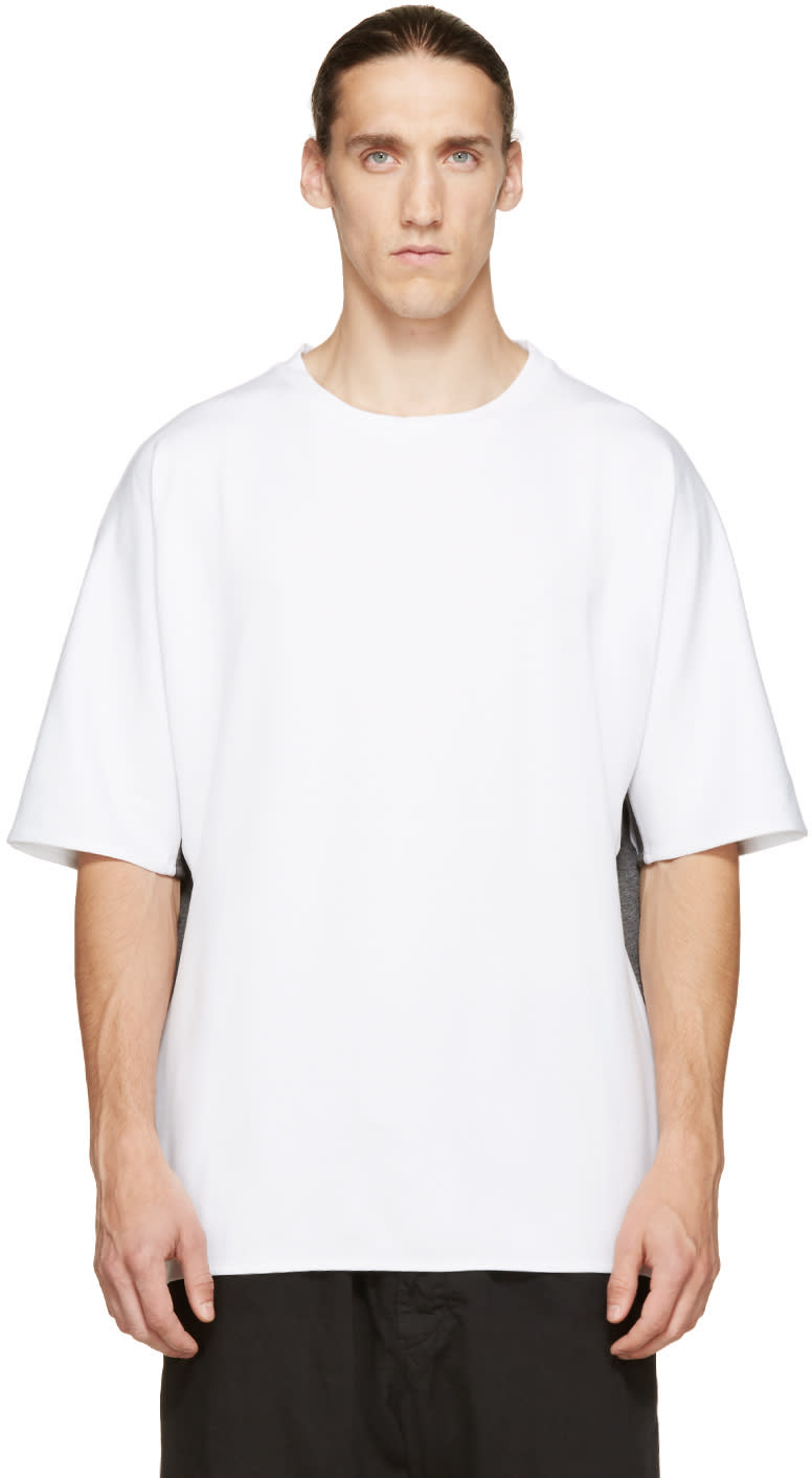 Public School White and Grey Dolman T-shirt