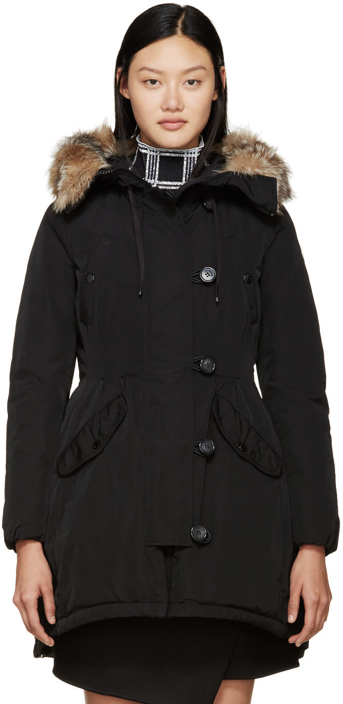 Moncler Black Down Ariette Coat