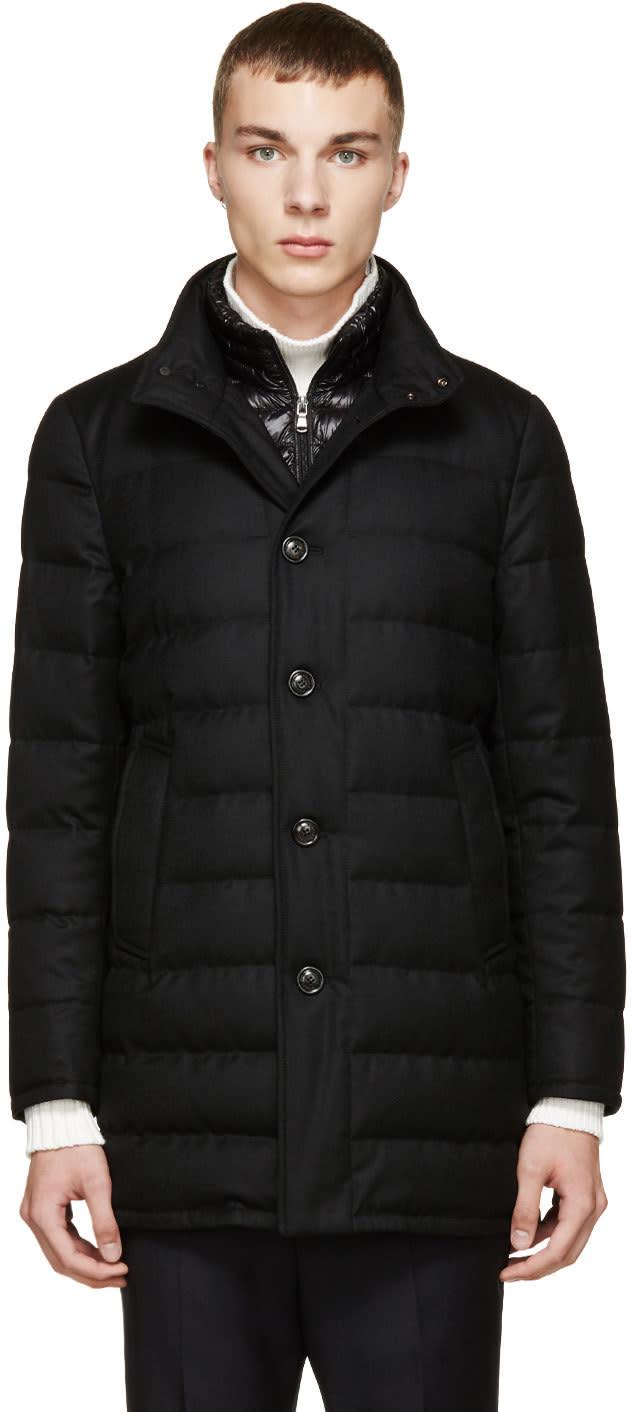 Moncler Black Down Vallier Coat