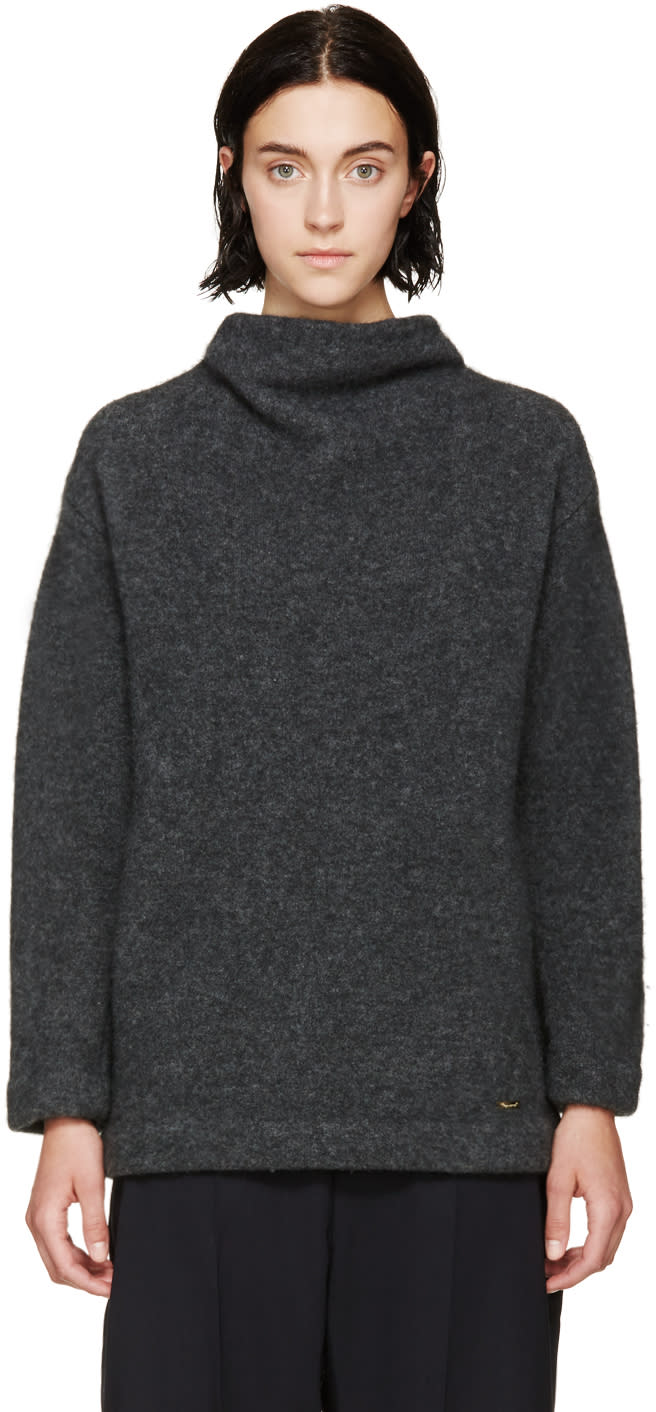 Dsquared2 Grey Stand Collar Sweater