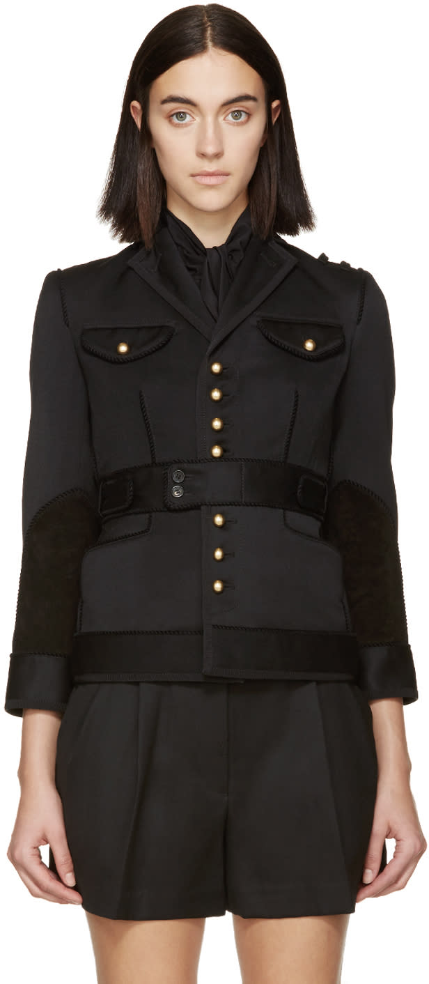 Dsquared2 Black Wool Gaenor Jacket