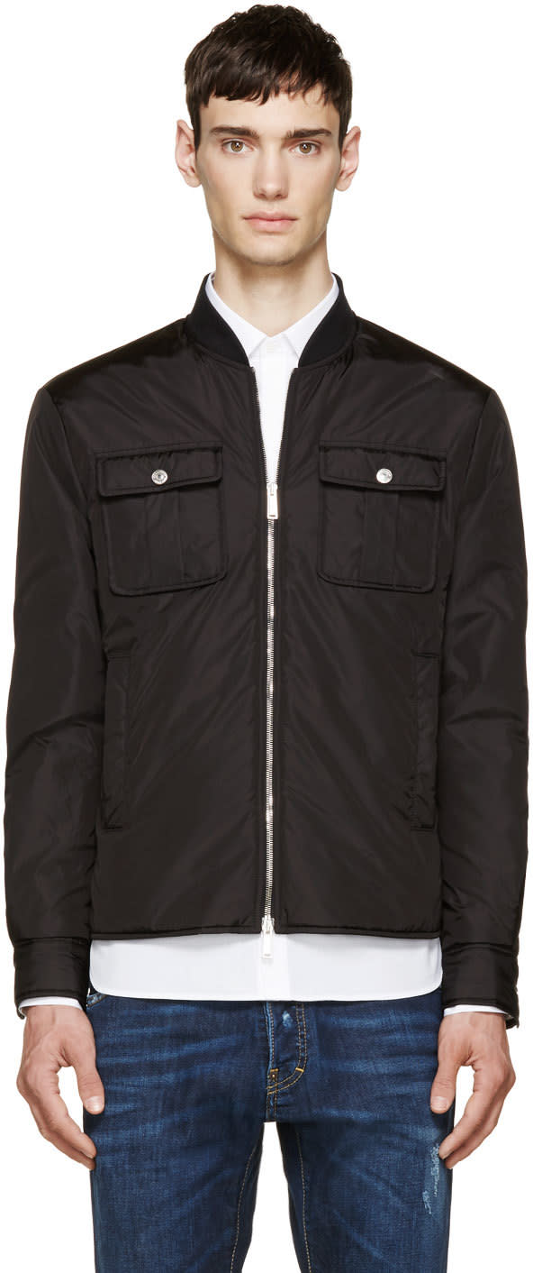 Dsquared2 Black Puffer Shirt Jacket