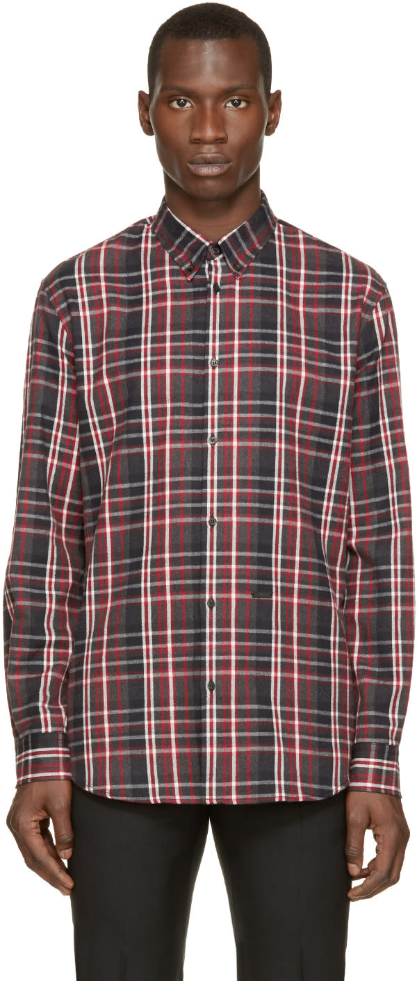 Dsquared2 Red and Grey Flannel Check Shirt