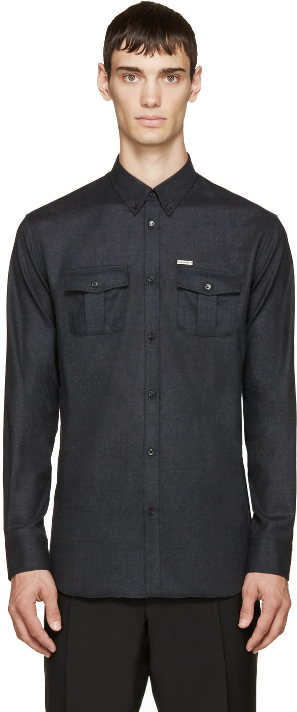 Dsquared2 Charcoal Military Shirt