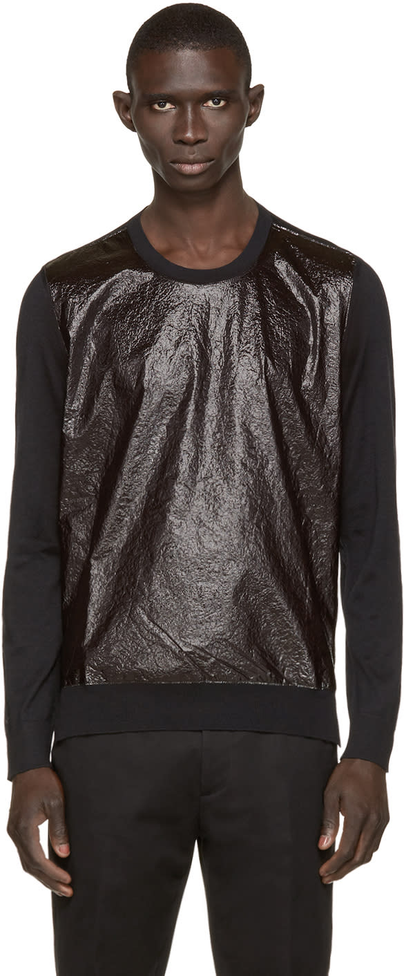 Dsquared2 Black Crinkle-front Sweater