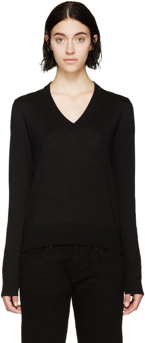 Maison Margiela Black Mesh Panelled Sweater