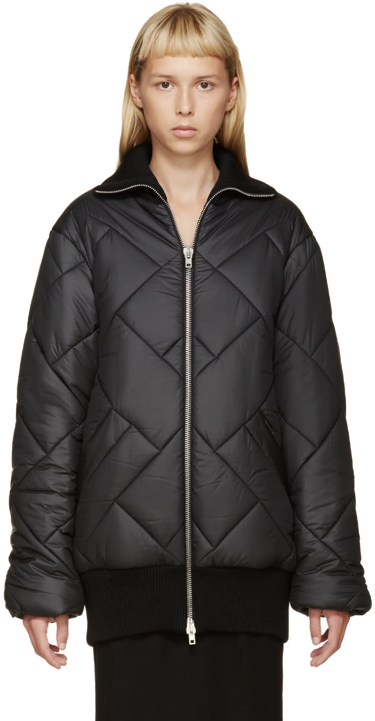 Maison Margiela Black Quilted Coat