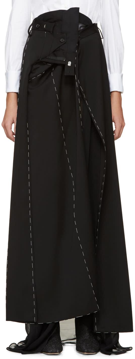 Maison Margiela Black Superimposed Trouser Skirt