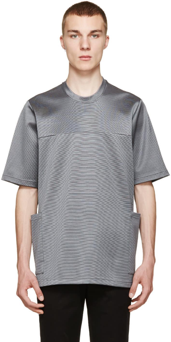 Christopher Kane Grey Oversized Stretch T-shirt