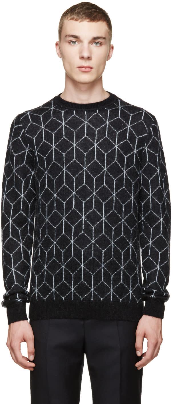 Christopher Kane Black Mohair 3d Cube Sweater