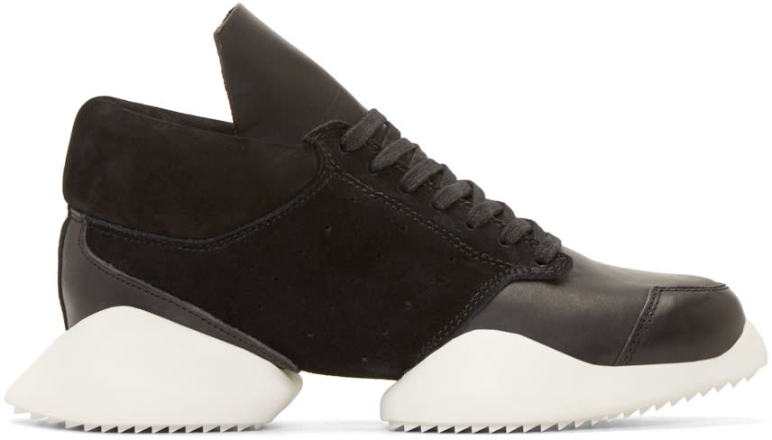 Rick Owens Black and White Island Sole Adidas By Rick Owens Sneakers
