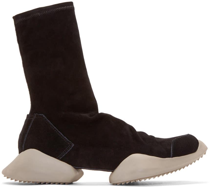 Rick OwensBlack Suede Adidas By Rick Owens High_top Sneakers