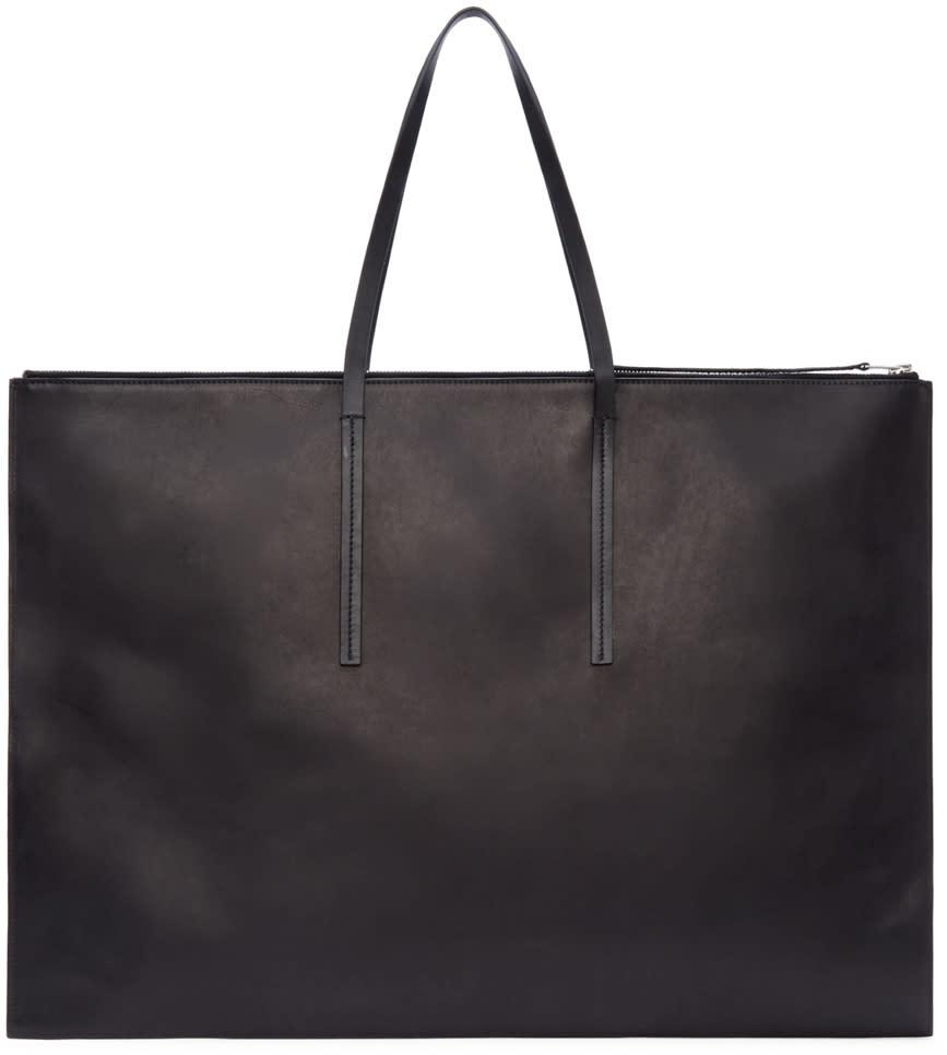 Rick Owens Black Leather Portfolio Bag