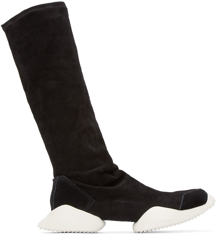 909638f49d3d Rick Owens Black Suede Adidas By Rick Owens Mid-calf Sneakers