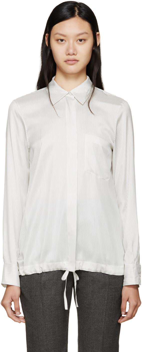 Jil Sander White and Black Virna Shirt