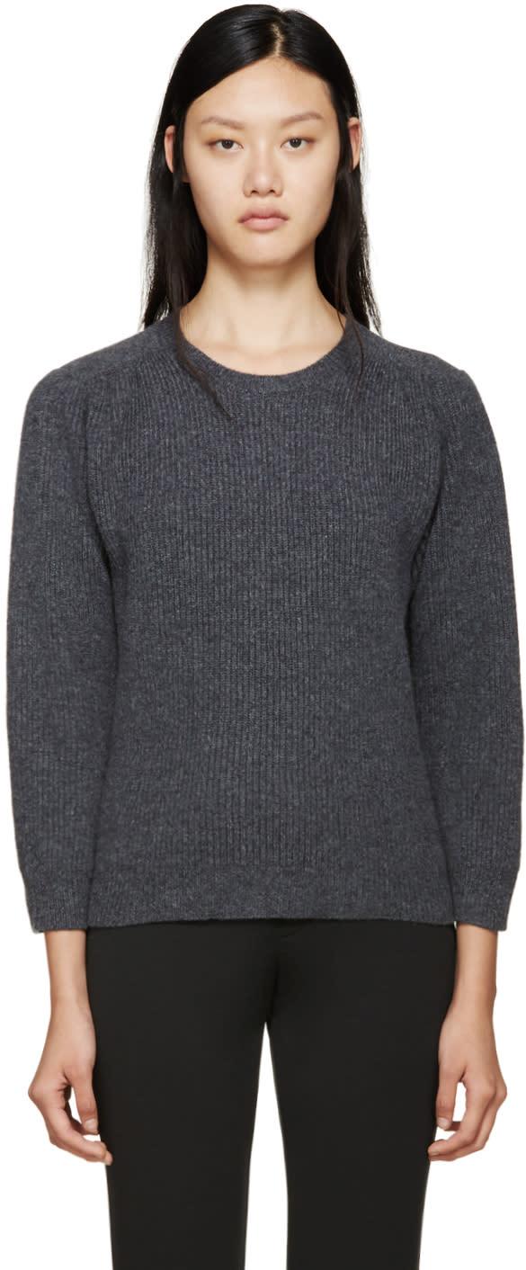 Jil Sander Grey Crewneck Sweater
