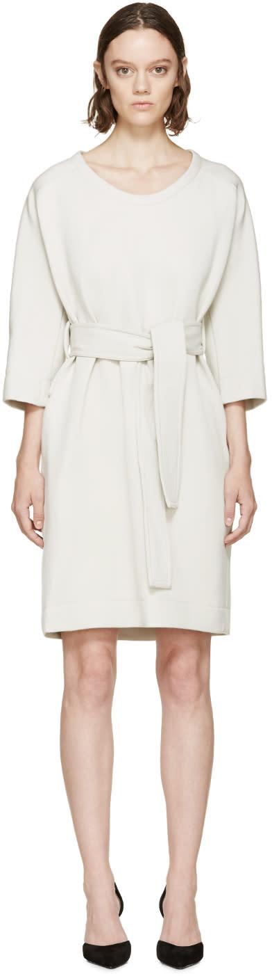 Lanvin Grey Belted Dress at SSENSE