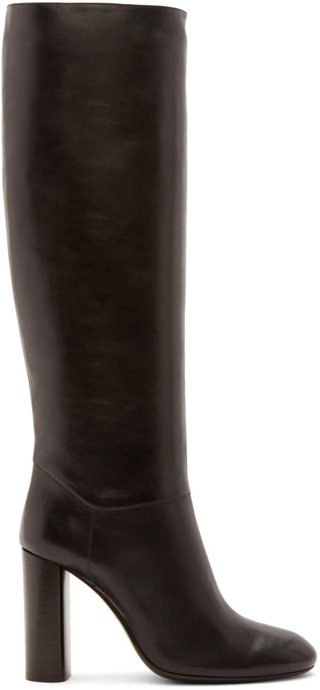 Lanvin Black Tall Calfskin Boots at SSENSE