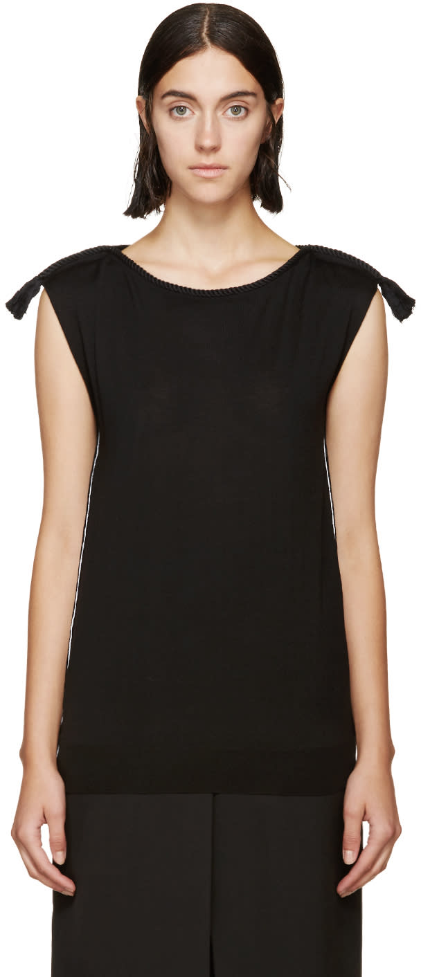 Lanvin Black Rope Piping Sweater at SSENSE